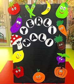 Class Decoration, School Decorations, Felt Crafts, Diy And Crafts, Crafts For Kids, Word Work Activities, Activities For Kids, Vegetable Crafts, Healthy Schools