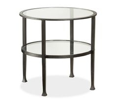 """Tanner Round Side Table - Bronze finish 