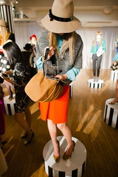 sweater. hat. everything! Kate Spade Fall 2012