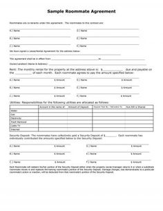 Download Roommate Agreement Template   My Style