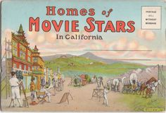 Beverly Hills Movie Star Home postcards