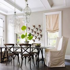 43 Modern Farmhouse Living Room Remodel Ideas , As stated by the designer, the room isn't too much blue. Living room has become the most important part in any house since it is the very first room y. Dining Room Wall Decor, Dining Room Design, Wall Decor Amazon, Modern Farmhouse Interiors, Farmhouse Style, Beautiful Dining Rooms, Living Room Remodel, Better Homes And Gardens, Chandeliers