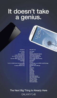 Comparison between Samsung Galaxy S III and iPhone 5