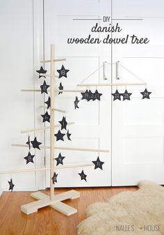 DIY: Danish Wooden Dowel Tree (Filigrantrae/Filigree Tree) - I'm out; Christmas has been won!