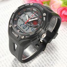 Men Sports Digital Back Light Silicone Military Quartz Wrist Watch af5cf0864aca0