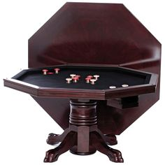 Level Best 54 in. 3 in 1 (Poker, Dining, and Bumper Pool) Game Table - Multi-Game Tables at Hayneedle