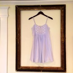 Vintage Powder Blue + Lace Baby Doll Nighty + xsmall + Queen Anne's Lace + Eileen West Couture on Etsy, $20.45