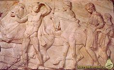 Partenón. Jóvenes preparándose a montar - Autor,Fidias,425-420 AC  Marmol,Museo del Louvre
