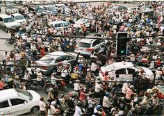 Hanoi, Vietnam Typical 7 am traffic // ah, hanoi.