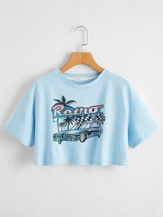 Girls Fashion Clothes, Teen Fashion Outfits, Girl Outfits, Teen Crop Tops, Crop Top Shirts, Crop Tee, Cute Comfy Outfits, Trendy Outfits, Aesthetic Shirts