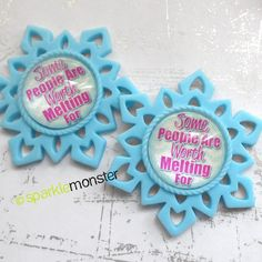 Some People Are Worth Melting For  2pcs USA by SparkleMonsterShop, $5.49