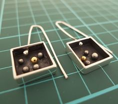 Gold spark in a box by dboartis on Etsy, $80.00  -  keum-bo earrings