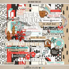 Oh What Fun (Kit) | by Sahlin Studio  Are you ready for the endless loops of 'Jingle Bells?' Have you made your gift-giving list and are checking it twice? Then you are ready to play with my Oh What Fun collection Whether you want to document your &#...