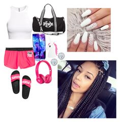 """Untitled #295"" by queen-ayanna on Polyvore featuring H&M, Victoria's Secret, NIKE, Boohoo, Beats by Dr. Dre and Kobelli"