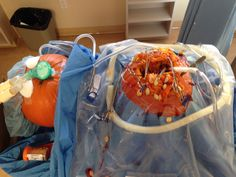 Cool hospital pumpkin carving contest made by my co-workers great job ladies!