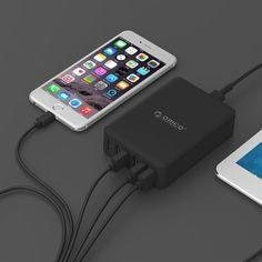 [$17.68] ORICO DCAP-6S-V1 6 Ports  5V / 2.4A Desktop USB Charger for…