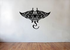 Maori tribal tattoo style Manta Ray Wall decal by AdnilCreations, £8.99