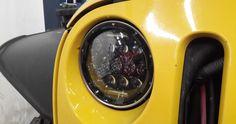 Round Universal BLACK Chrome sealed dual Hi/Low beam LED Headlight with halo angel eyes for Jeep Wrangler CT TJ LJ Jk Toyota FJ Hummer Camaro Land Rover Defender Miata Harley motorcycle Jeep Wrangler Truck, Jeep Wrangler Headlights, Jeep Jeep, Led Headlights, Car Lights, Land Rover Defender, Beams, High Low, Hummer H1