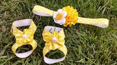 Baby bottomless sandals!  https://www.etsy.com/listing/166335769/yellow-bottomless-sandals-and-matching
