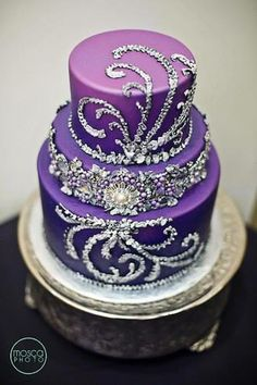 pink and purple birthday cakes Google Search Cake decorating