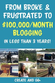 Our story of how we went from frustrated and broke young professionals to making over $100,000/month blogging in less than 3 years! | Createandgo.co