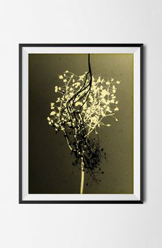 Color grunge photograph, Botanical Motif Print, Flowers, Artistic Nature Autumn Manipulated Image,Grain Texture Plant, Wall Decor, Home Art by STRNART on Etsy