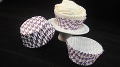 Purple Houndstooth Cupcake Liners