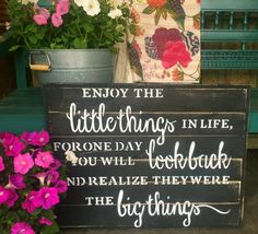 WOOD SIGNBOARD - ENJOY THE LITTLE THINGS - Smallwoods