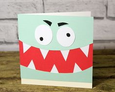 Kids will love to receive this fun monster card