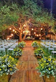 "We had previously discussed ""backyard"" and ""wedding"" decorations. This time we will combine a gorgeous garden wedding decor. Are you interested in backyard weddings? Planning this type of wedding may be the good idea for your wedding party. Outdoor Wedding Decorations, Wedding Themes, Outdoor Wedding Lights, Outdoor Wedding Seating, Outdoor Night Wedding, Vintage Outdoor Weddings, Country Barn Weddings, Outdoor Ceremony, Outside Wedding"