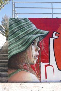 Amazing street art! Street art faces.