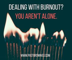 Leigh Powers shares suggestions for pastors and pastors' wives struggling with burnout