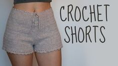 Hello Everyone, in today's video I will be showing you guys how to crochet a high-waisted shorts. It looks a bit hard, but once you get the hang of it, you w. Crochet Shorts Pattern, Crochet Pants, Crochet Skirts, Crochet Wool, Crochet Clothes, Maxi Skirt Tutorial, Shorts Tutorial, Bikini, Short Tejidos