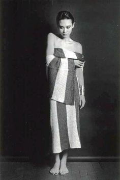 Tina Chow in ISSEY MIYAKE 1983.