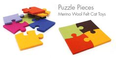 Puzzle Pieces Felt Cat Toy from Modern Cat