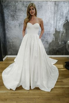 Strapless sweetheart wedding a-line wedding dress from Justin Alexander's Spring 2017 collection {Dan Lecca}