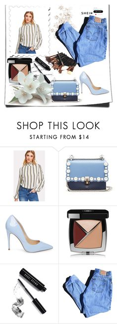 """shein"" by milan-4 ❤ liked on Polyvore featuring Fendi, Steve Madden, Katie, Chanel, Bobbi Brown Cosmetics and Levi's"