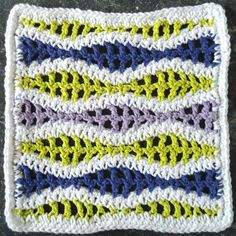"Free pattern for ""Wavy Ripple Dishcloth""!"