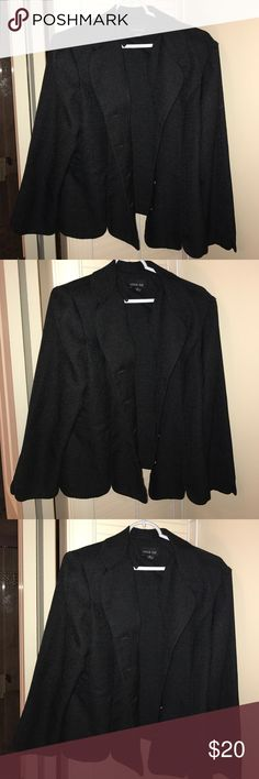 Black Career Blazer Black button up blazer with light shimmer. Beautiful for office or night out. Smoke free home. Leslie Fay Jackets & Coats Blazers
