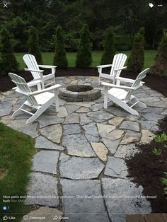 cool backyard with stone fire pit designs ideas 110 Fire Pit Area, Fire Pit Backyard, Backyard Patio, Backyard Seating, Fire Pit Off Patio, Garden Fire Pit, Diy Fire Pit, Outdoor Seating, Outdoor Sofa