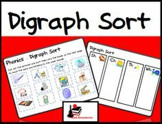 Free digraph sort for your phonics centers from Raki's Rad Resources.