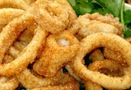 Thai Calamari - hot from the pan!