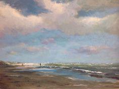 Strandgezicht. door Herman Dasselaar acryl on canvas 40x50cm (for sale)
