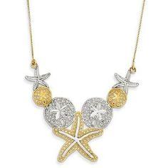 14K Gold Diamond-cut Sea Life Necklace QGSF2075