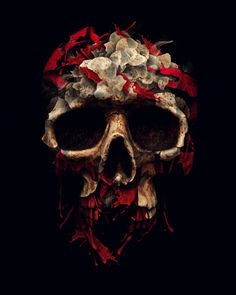 Blood skull by ALBERTO SEVESO / {ILLUSTRATOR/GRAPHIC DESIGNER} ITALY burdu976.com/