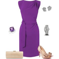 A fashion look from April 2014 featuring L.K.Bennett dresses, Christian Louboutin pumps and Jimmy Choo clutches. Browse and shop related looks.