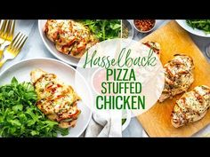 ThisHasselback Pizza Stuffed Chicken is a delicious way to spice up boring old chicken breasts and satisfy your pizza craving at the same time - it's keto and low carb, and a healthy, tasty dinner idea!