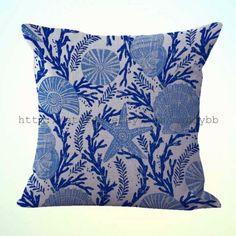 US Seller-pillow covers decorative starfish seashell sea urchin cushion cover Cushions For Sale, Throw Cushions, Decorative Pillow Cases, Decorative Cushions, Sofa Cushion Covers, Pillow Covers, Decor Pillows, Bed Pillows, Pillow Inspiration