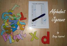 Free printable alphabet jigsaw puzzle.