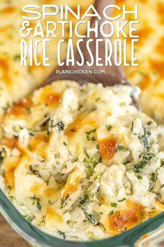 Spinach & Artichoke Rice Casserole - Plain Chicken